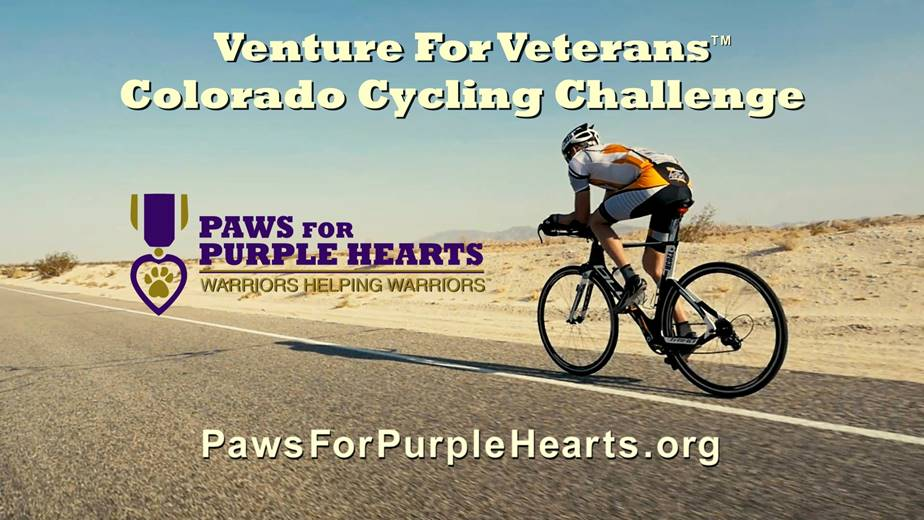 dogs, service dogs, veterans, cycling, fundraiser, Colorado Rockies, Venture for Veterans