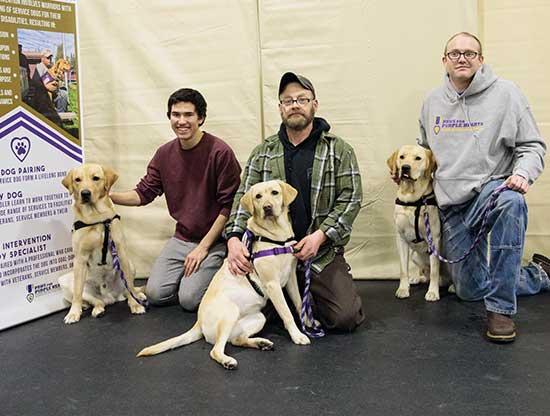 Paws for Purple Hearts Fairbanks Client training class Dec 2017