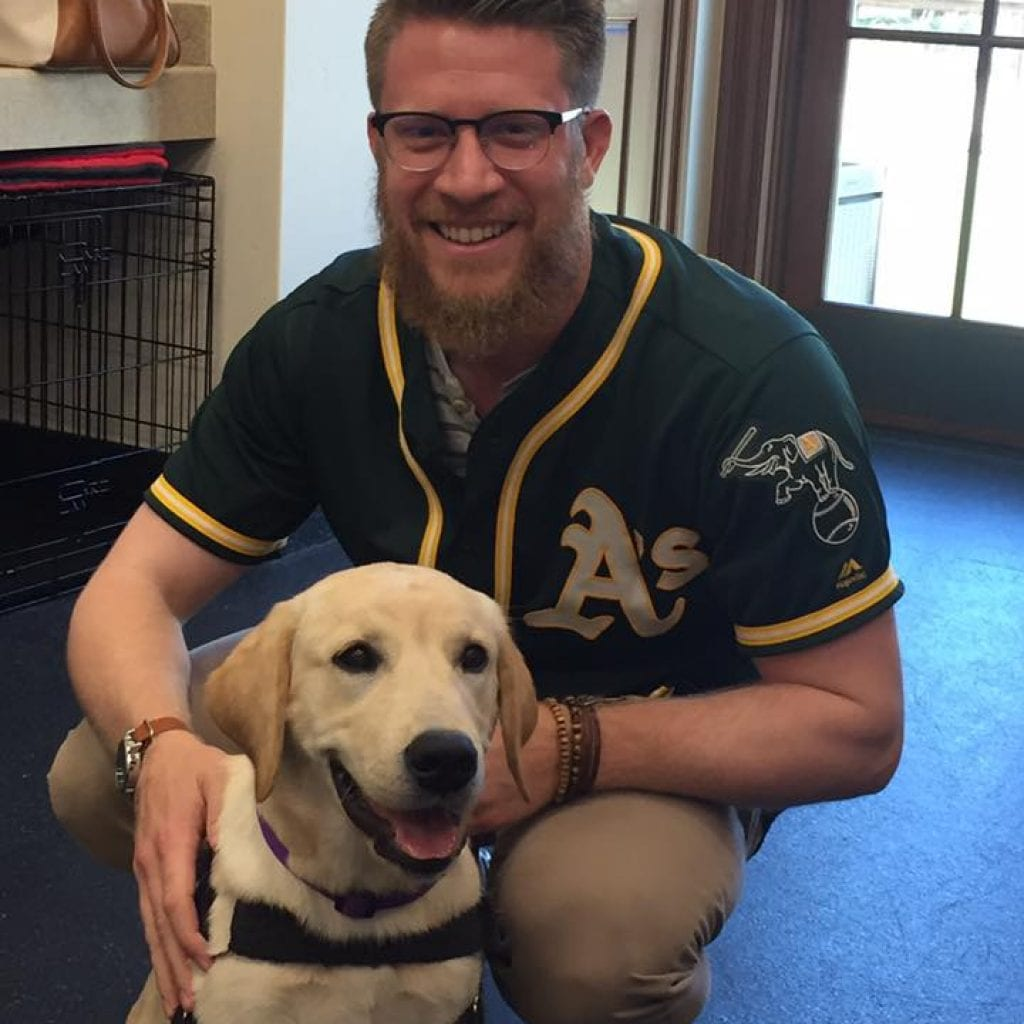 Ralph was very excited to meet Oakland A's pitcher Sean Doolittle.