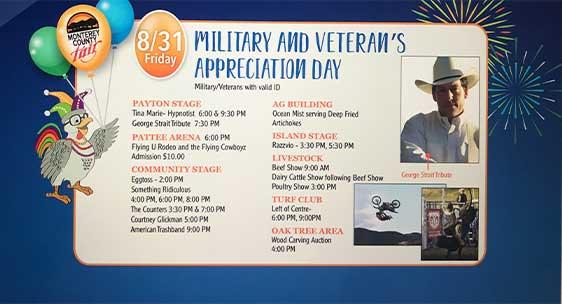 Monterey County Fair Veteran's Day Schedule
