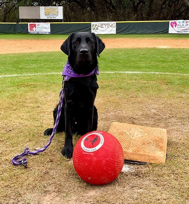 Rusty posing with the game winning kickball