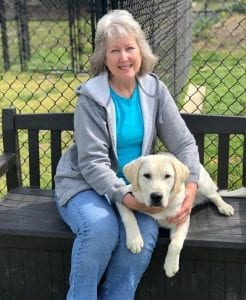 PPH Advocate & Volunteer Photographer, Tina, and PPH service dog in training, Ernie.