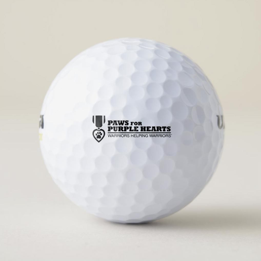 Paws for Purple Hearts Golf Balls