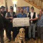 Russell and Major accept check from American Legion Riders