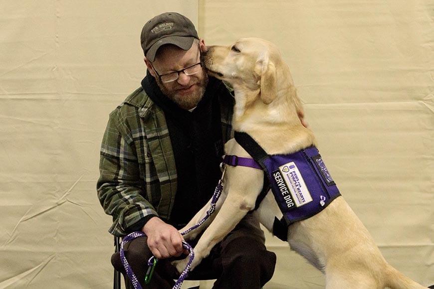 Service Dog Annie with her Warrior Companion
