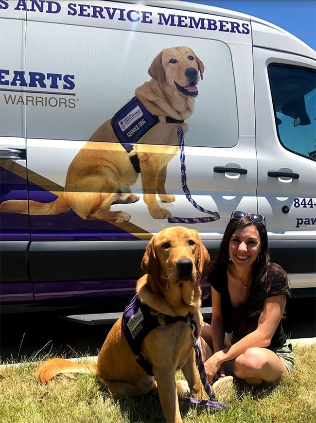 PPH Drew and Sam pose in front of PPH San Diego's new van