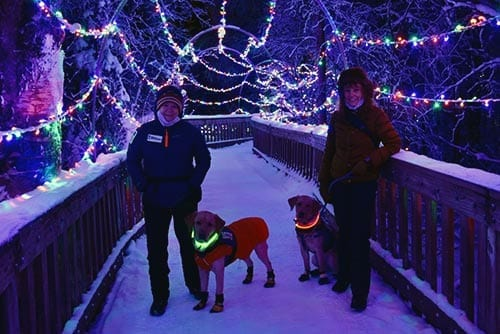 PPH Alaska visits the zoo for a holiday light festival