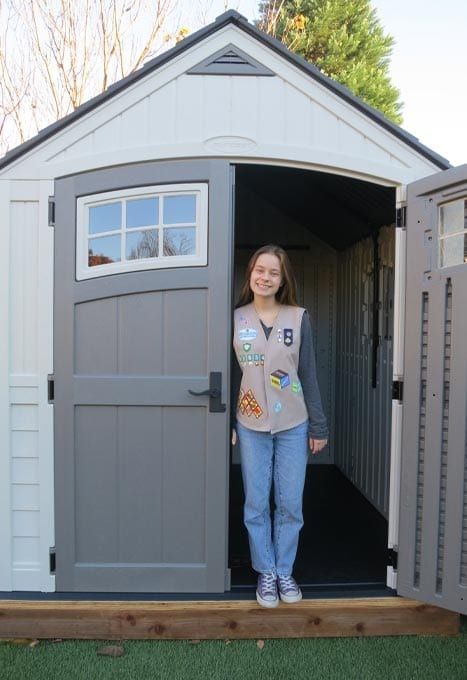 Dana Chose Shed Organization and Preservation as her Girl Scout Gold Award Project