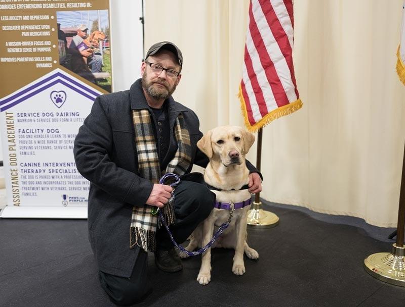 Jeff and Annie, Warrior/Service Dog Team