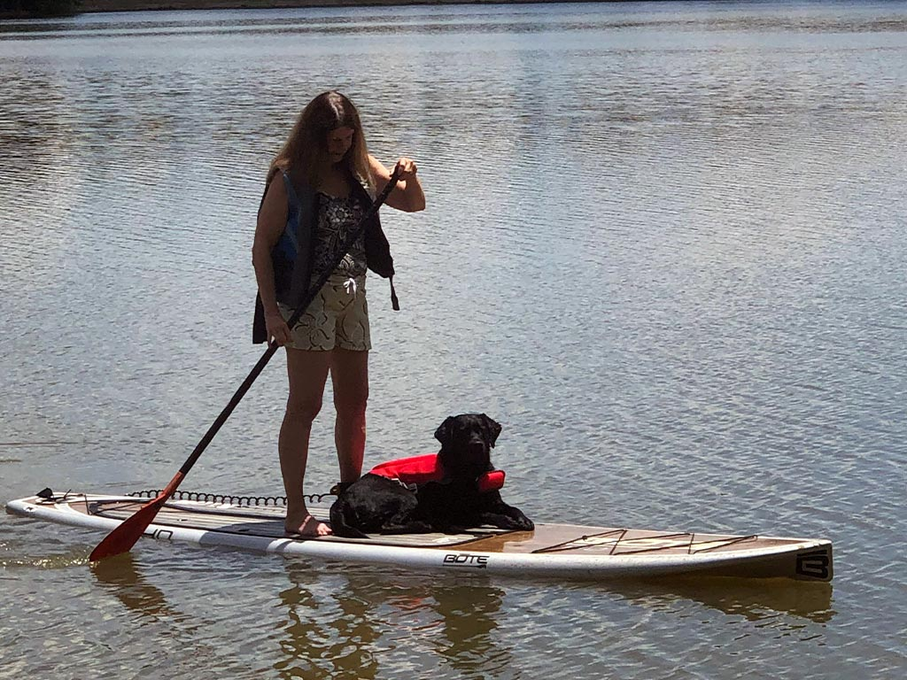 #pphElma loves being a co-captain on the paddleboard!