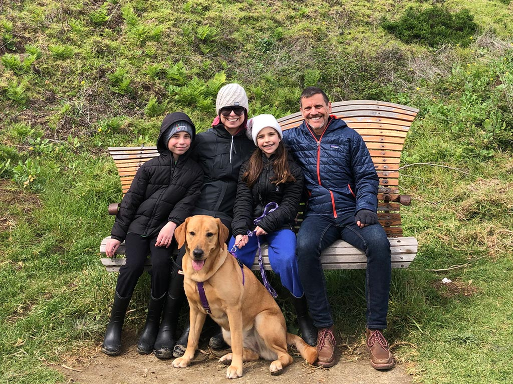 #pphLiberty with her puppy parents on a family hiking trip